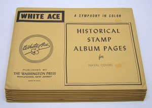 WHITE ACE: Naval Covers -BLANK PAGES- (8) Packages - NEW/NO STAMPS