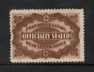 Canada #OX1 Very Fine Used With Light Cancel