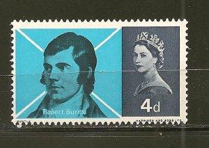 Great Britain 444 Robert Burns MNH