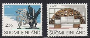 Finland # 908-909, Europa - Sculptures, NH, 1/2 Cat.