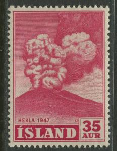 Iceland - Scott 249 - General Issue -1948 - MLH - Single 35a Stamp