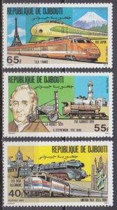 1981 Djibouti 300-302 Locomotives 6,00 €