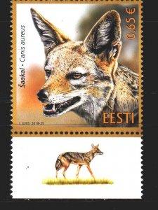 Estonia. 2018. 934. Jackal fauna. MNH.