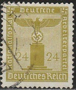 Stamp Germany Official Mi 152 Sc S9 1938 WW2 Reich War Emblem Franchise Used