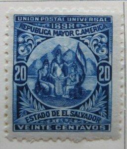 A6P37F37 Salvador 1898 Unwmk 20c mh*
