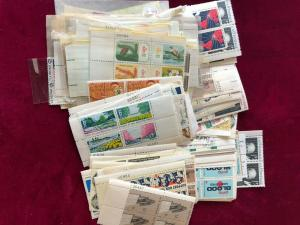 US Postage 315 +/- Plate Blocks of 6 cent stamps #70