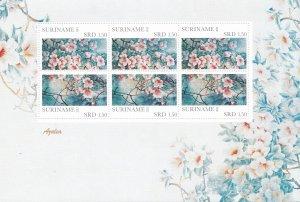Suriname MNH S/S 1425 Azalea Flowers