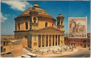 51607 - MALTA -  POSTAL HISTORY: MAXIMUM CARD -  ARCHITECTURE 1954