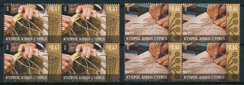 [I1917] Cyprus 2016 Art good set in bloc of 4 stamps very fine MNH