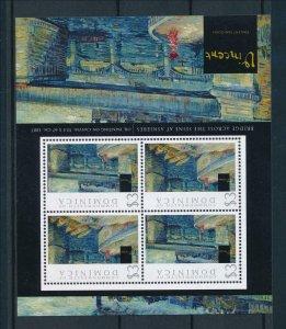[107251] Dominica 2009 Art painting Van Gogh bridge across Seine Sheet MNH