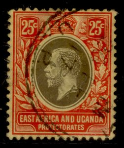 EAST AFRICA and UGANDA GV SG50c, 25c black and red/yellow, FINE USED. Cat £18.