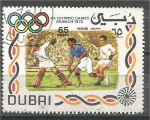 DUBAI, 1972, CTO 65d Olympic Emblems Scott 158