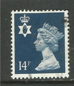 Northern Ireland GB 1988 QE2 14p Deep Blue SG NI 39 ( F323 )