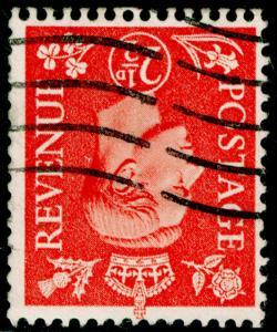 SG507Wi, 2½d pale scarlet, FINE USED. WMK INV