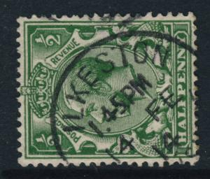 GB - KGV SG 351 1/2d GREEN CANCELLED BY ILKESTON / DERBYSHIRE CDS