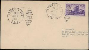 1948 CLEVE & CHI.  RPO RAILROAD CANCEL