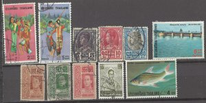COLLECTION LOT # 3021 THAILAND 11 STAMPS 1912+ CV+$10