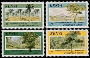 ✔ KENYA 1986 - FLORA INDEGINOUS TREES TOP SET - MI. 352/355 ** MNH [AFKN352]