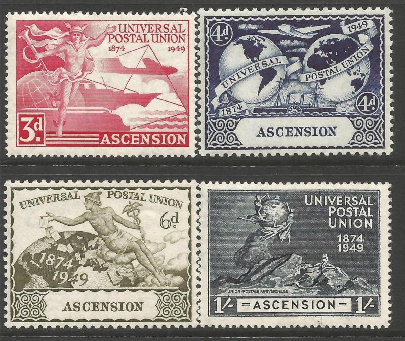 Ascension 1949 UPU fine mounted mint set