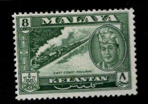 MALAYA Kelantan Scott 88 MH* East coast railway train stamp