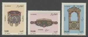 Algeria 2001 Handicrafts set Sc# 1208-10 NH
