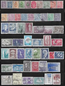 12724  Finland collection of 52 diff. used stamps, only 5¢ each - 12724