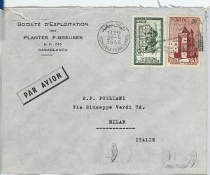 59241 -   SPANISH MOROCCO - POSTAL HISTORY: COVER to ITALY - 1958