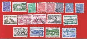 Finland #398//414a  VF used  Various Scenes   Free S/H