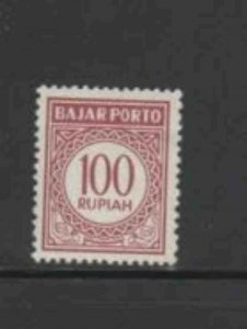 INDONESIA #J86 1962 100r POSTAGE DUE MINT VF LH O.G a