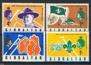 Gibraltar MNH 209-12 60th Anniversary Scouts In Gibraltar 1968