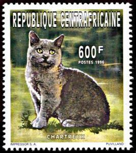 Central Africa 1127, MNH, Chartreaux Cat
