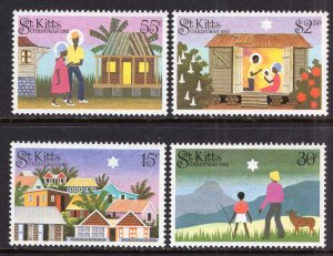 St. Kitts MNH 127-30 Christmas 1983