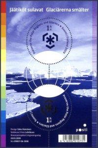 Finland 2009 #1334 MNH. Environment, glaciers
