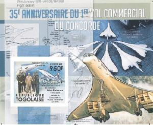 TOGO 2011 35th.Anniv.First Fly Concorde 3 SS Imp.MNH Limited