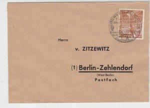 Berlin 1952 Winkel Rheingau Slogan Cancel to Berlin Stamps Cover Ref 26102