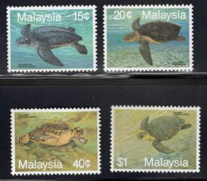 Malaysia Scott 431-434 MNH** Turtle stamp set CV $7.25