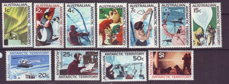 J16484 JLstamps 1966-8 AAT australia set mnh #L8-18 antarctic views