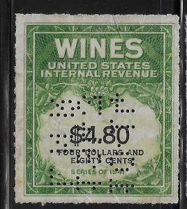 RE158 1941 Wine Stamp F