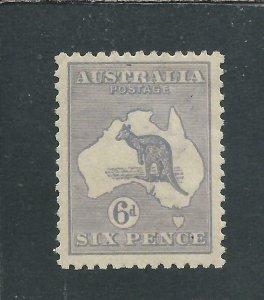 AUSTRALIA 1915-27 6d DULL BLUE MM SG 38b CAT £90