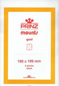 PRINZ BLACK MOUNTS 190X199 (4) RETAIL PRICE $10.50