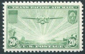 HERRICKSTAMP UNITED STATES Sc.# C21 1937 Jumbo Superb NH Airmail Stamp