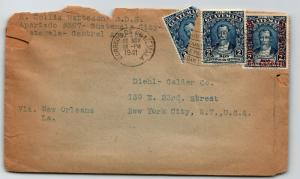 Guatemala 1941 Cover w/ Bisect to USA / Top & Edge Tearing - Z13571