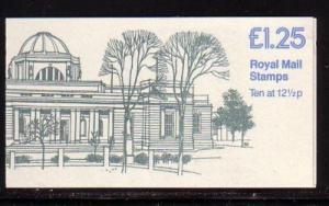 Great Britain Sc BK513 £1.25 Wales Mus stamp bklt