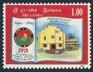Sri Lanka 1031 two stamps,MNH.Michel . Newstead College, 1275th Ann. 1992.