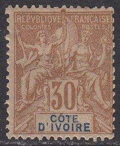 Ivory Coast 12 MH CV $35.00