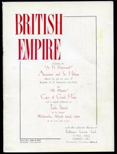 1950 Robson Lowe Specialised British Empire Auction Catalogue (BK#24).