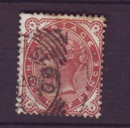 J19306 Jlstamps 1880 great britain used #80 queen