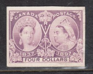Canada #64P XF Proof On Card