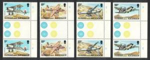 Ascension Wideawake Airfield Gutter Pairs SG#318-321 SC#309-312