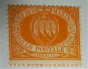 1890 SAN MARINO SCOTT #4 MINT HINGED Free US Shipping CV $180